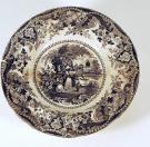 Transfer-print soup plate, Portland, ca. 1830
