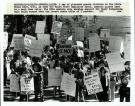 State employees protest, Augusta, 1981