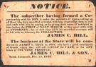 Notice to debtors, North Yarmouth, 1833