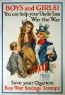 Children and war stamps World War I poster, 1917