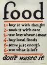 Food--don't waste it, World War 1 poster, c. 1917