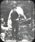 C.H. Randall with deer, ca. 1900