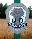 Road-side Grange sign, Monticello, 2004
