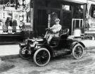 Man Driving Near Brown Block, Sanford, ca 1909