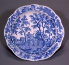 Plate from Zilpah Wadsworth's dinner set