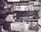 Ed Rolfe Completes Model of B&A Engine 405, Milo, 1956
