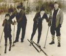 Olympic skiers and sons, Rumford, ca. 1965
