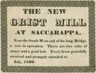 New grist mill broadside, Saccarappa, 1830
