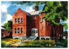 Artist's rendition of Skowhegan Free Public Library