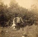 Hunter and bird, Stockholm. c. 1920