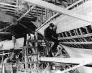 Construction, Navy yawl, Mount Desert, ca. 1942