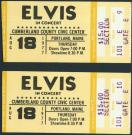 Elvis Presley concert tickets, 1977