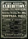 Biddeford High School Exhibition Advertisement, ca. 1900