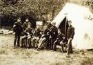 Soldiers of the First Connecticut in camp at Fort Knox, 1898