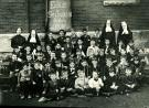 St. Joseph's School students and teachers, Biddeford, 1910