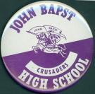 John Bapst High School Booster Button, Bangor, ca 1970