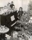 Good Will girls on Christmas morning, Fairfield, ca. 1950