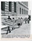 Sheriff's Association pickets, Portland, 1981