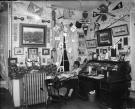 George French dorm room, Bates College, ca. 1901