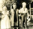 Connie Duran with Raggedy Ann & Andy, Cousins Island, ca. 1920