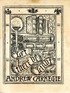 Andrew Carnegie bookplate