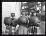 Young women with pumpkins, Portland, ca. 1935