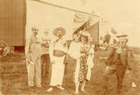 Venerable Cunner members in costume, Cape Elizabeth, ca. 1895