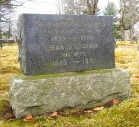 Marker of George B. and Jean Stevens, Pine Grove Cemetery, Portland, 2014