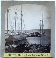 The harbor from Railway Wharf, Rockland, ca. 1875