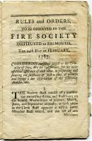 Falmouth Fire Society rules and orders, Portland, ca. 1783