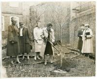 Longfellow Garden Club tree planting, Portland, 1957