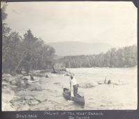Poling up the West Branch, Penobscot River, ca. 1920