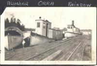 Boats at Norcross Wharf, Norcross, ca. 1915