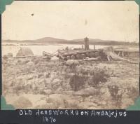 Old headworks, Ambajejus Lake, 1870