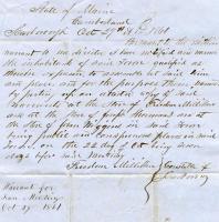 Town Warrant, Scarborough, 1861
