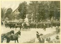 Civil War monument dedication, Bethel, 1908