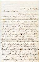 Clara Moses letter to soldier, Scarborough, ca. 1862
