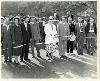 Ribbon cutting dedication, Westport Island Causeway, 1950