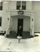 St. Joseph Hospital front entrance, Bangor, ca. 1955