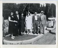 Opening of Westport causeway, 1950