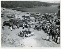 Dedicating the Westport-Wiscasset causeway, 1950