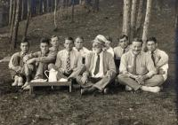 Faculty at Camp Merryweather, North Belgrade, ca. 1920