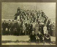 GAR members with families, Pittsfield, ca. 1900