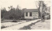 Darling's Fish Market, Depot Street, Bridgton, ca. 1938