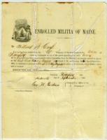 Willard Cross draft notice, Pittsfield, 1862