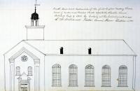 First Baptist Church, Bangor, ca. 1850