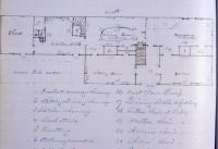 John Martin house floor plan, Bangor, 1864