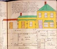 Plan of Alden Merry's house, Brownville Junction, 1893