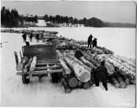 Logging operations at Lake Pennesseewassee, Norway, 1939