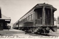Bangor and Aroostook Railroad passenger train, Fort Kent, c. 1930
